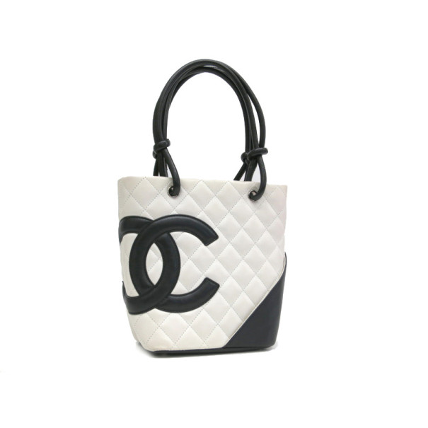 bdd63ba8cb8a16 ... Chanel White and Black Small Ligne Cambon Tote. nextprev. prevnext