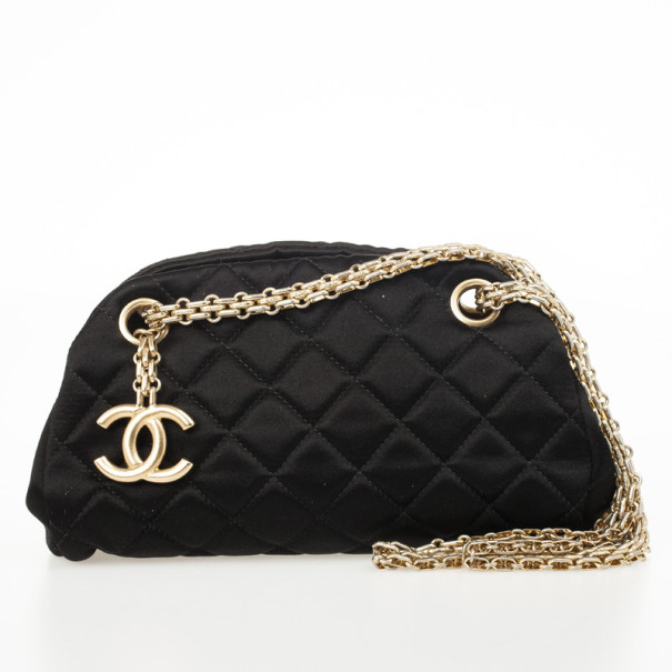 f24274325cfc Buy Chanel Black Satin Mini Mademoiselle Bag 32716 at best price | TLC