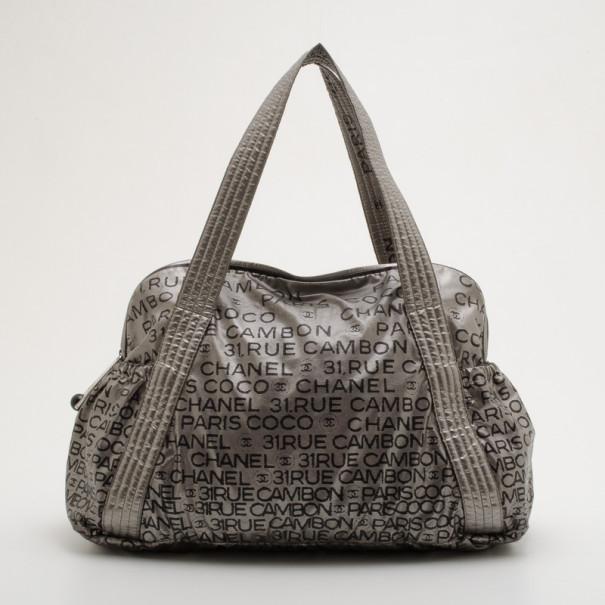 5ff2f1835c Chanel Silver Rue de Cambon Unlimited Large Boston Bag