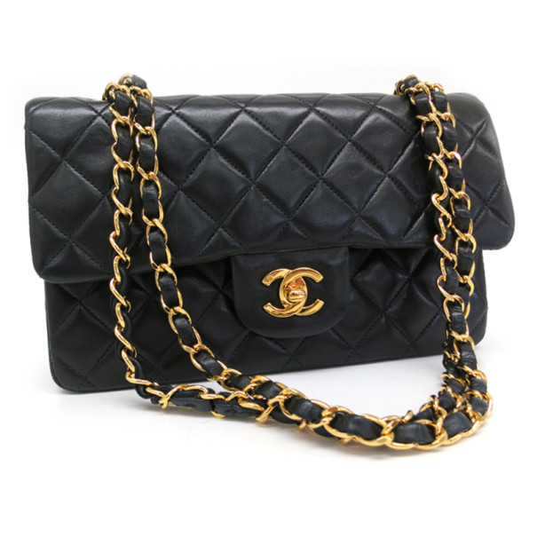 873ad80b2850fd Buy Chanel Black Lambskin Small Classic Flap Bag 35477 at best price ...