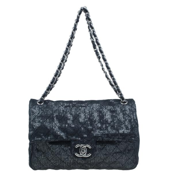 fc27ff3f153d ... Chanel Black Hidden Sequins Classic Maxi Flap Bag. nextprev. prevnext