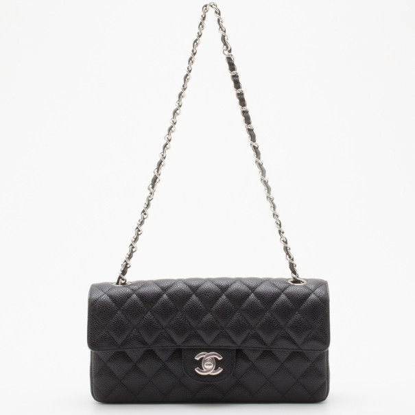 bac3a238a4fe Buy Chanel Black Caviar East West Flap Bag 36139 at best price | TLC