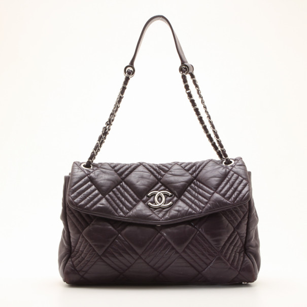 9e9c1fc47e4315 Buy Chanel Purple Bubble Quilted Large Flap Bag 36143 at best price ...