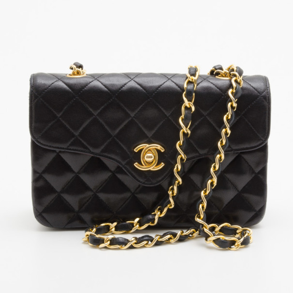 2bc6ff7a7a58 ... Chanel Vintage Black Quilted Lambskin Classic Mini Flap Bag. nextprev.  prevnext