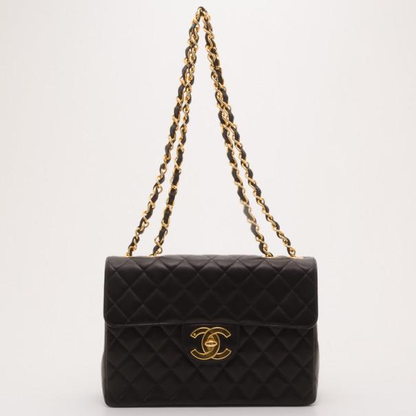 c1ae3fcf2c9f9f ... Chanel Vintage Black Lambskin XL Jumbo Flap Bag. nextprev. prevnext