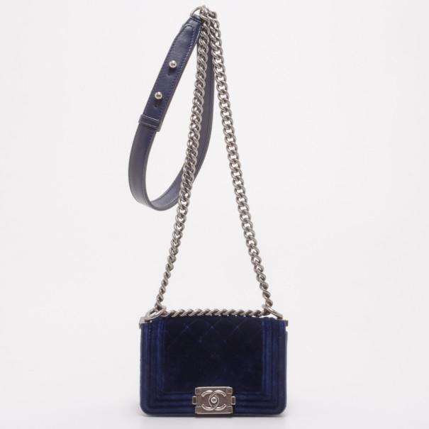 8ce8fe463bb8 Buy Chanel Blue Velvet Mini Boy Bag 37460 at best price | TLC