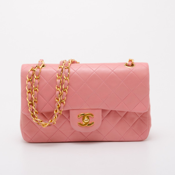 8b5c6e68ce8a Buy Chanel Vintage Pink Lambskin Small Flap Bag 37703 at best price ...