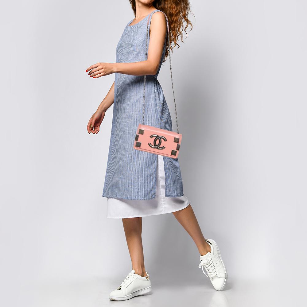 Chanel Pink Plexiglass and Leather Boy Brick Flap Bag