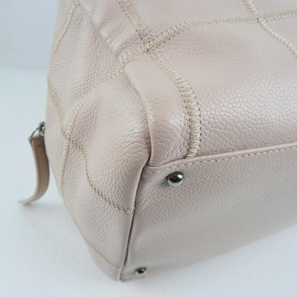 Chanel Pink Leather Chocolate Bar Shoulder Bag9