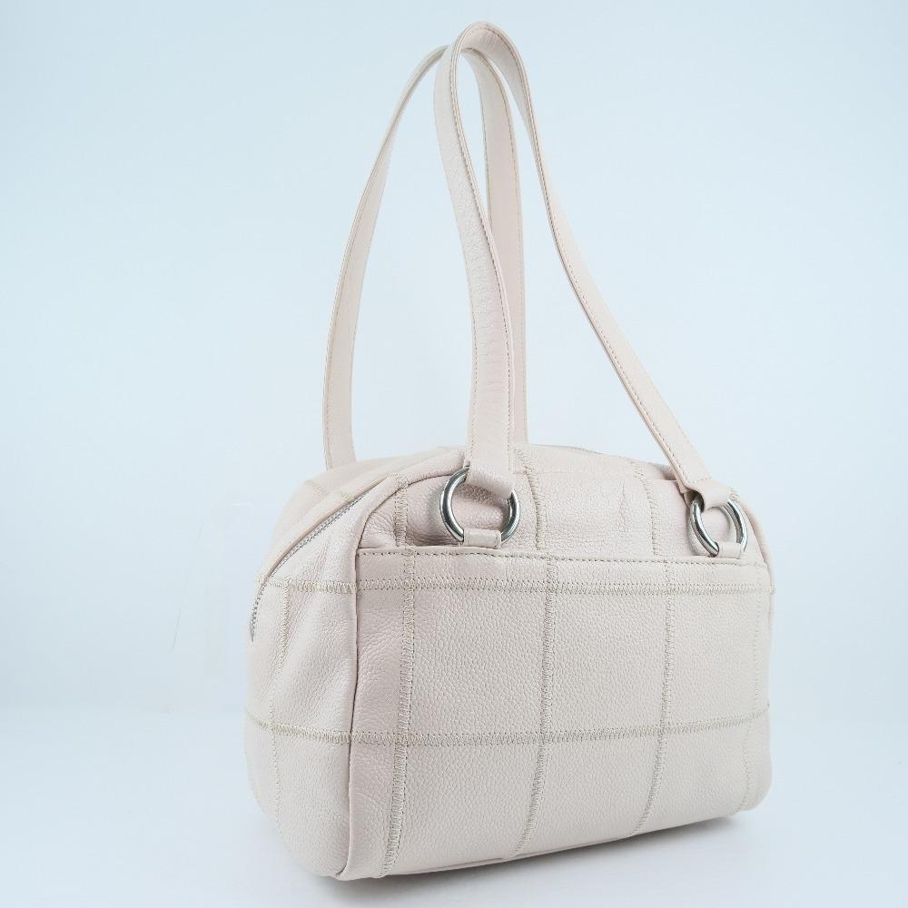 Chanel Pink Leather Chocolate Bar Shoulder Bag1