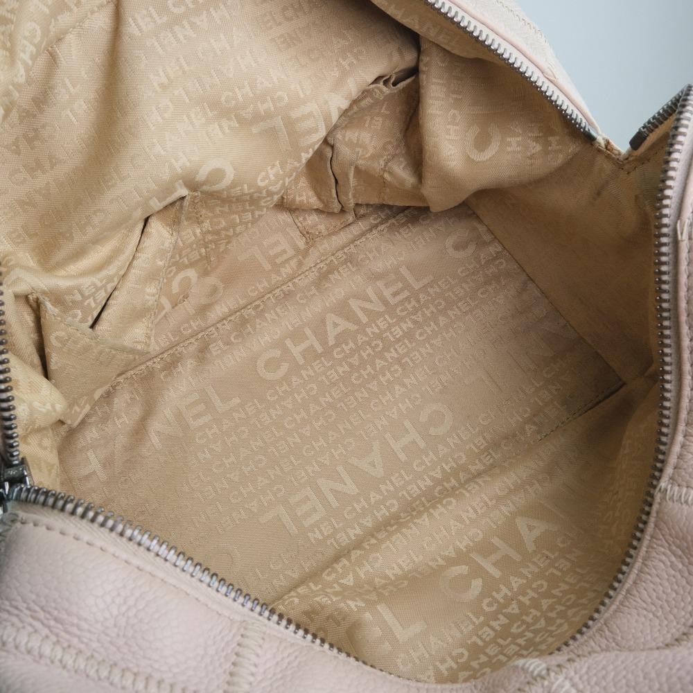 Chanel Pink Leather Chocolate Bar Shoulder Bag2