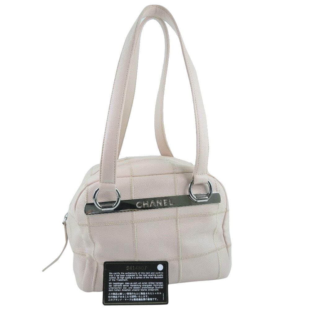Chanel Pink Leather Chocolate Bar Shoulder Bag4