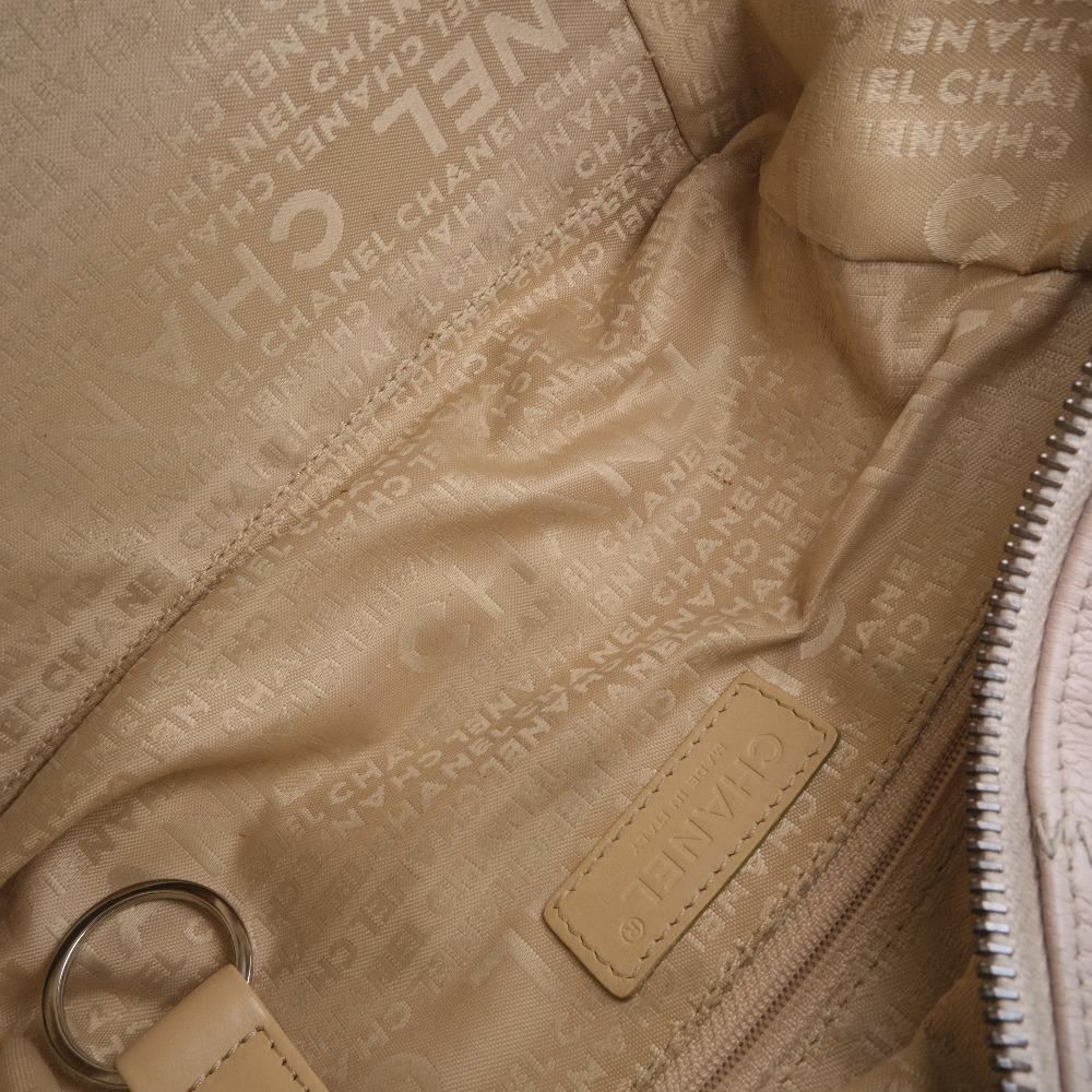 Chanel Pink Leather Chocolate Bar Shoulder Bag7
