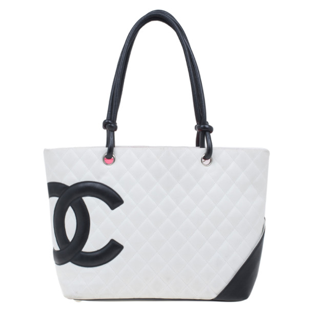 bd64f7de2 Buy Chanel White Cambon Ligne Quilted Tote 4262 at best price | TLC