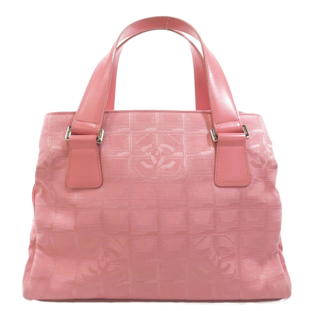 Pre-owned Chanel Pink Nylon Travel Line Tote Bag