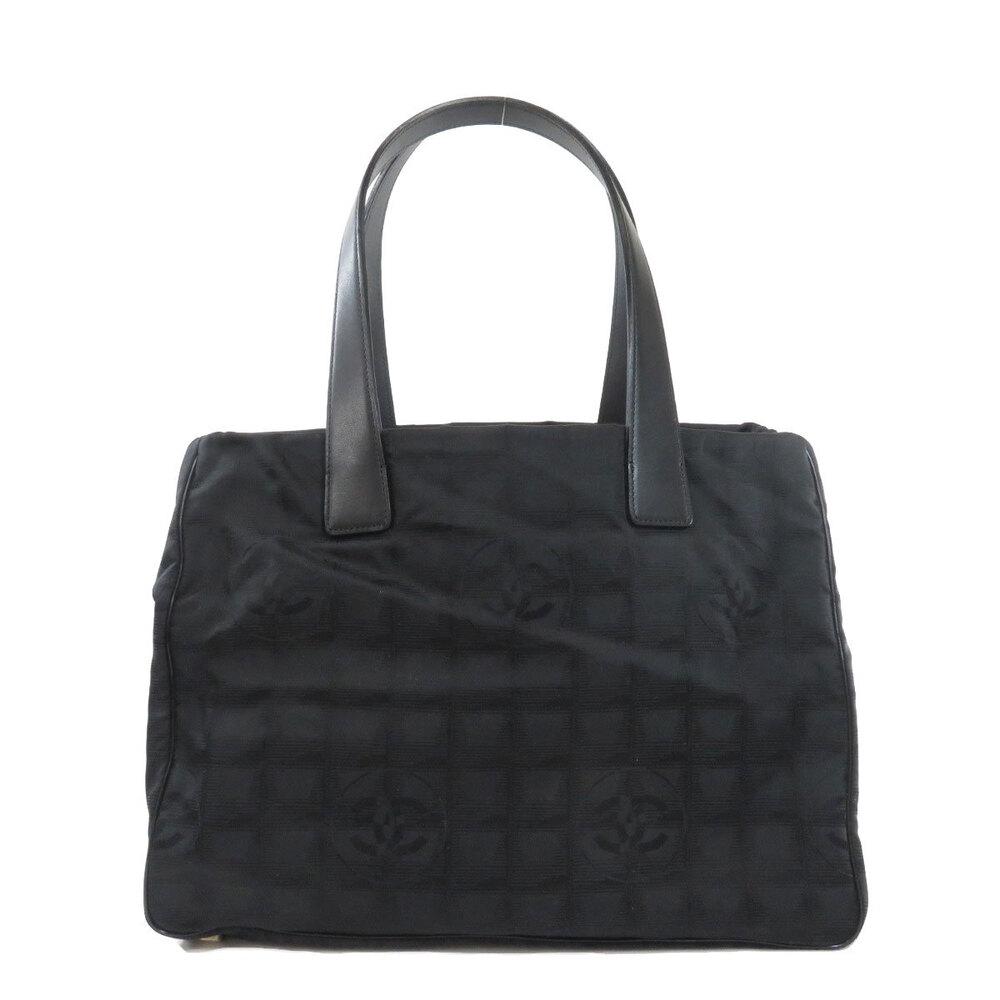 Pre-owned Chanel Black Nylon Travel Line Tote Bag