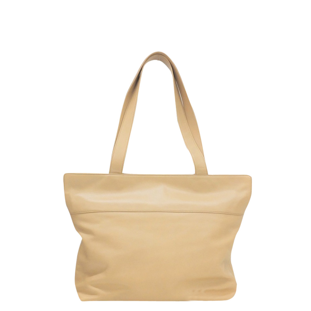 Pre-owned Chanel Beige Leather Vintage Timeless Tote Bag