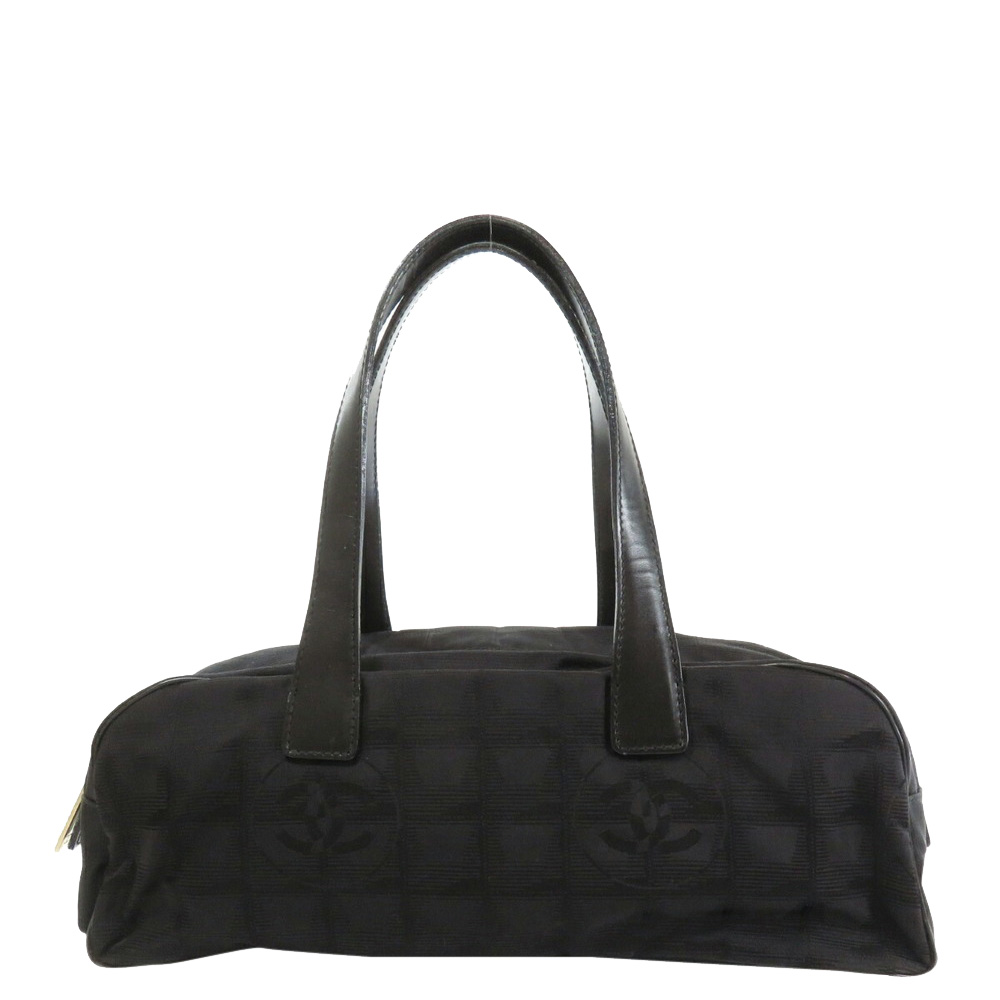 Pre-owned Chanel Black Nylon Travel Line Duffel Bag
