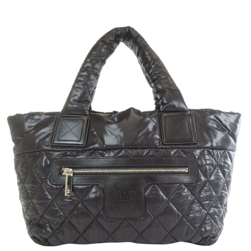 Pre-owned Chanel Black Quilted Leather Coco Cocoon Bag
