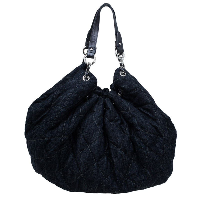 d4c36e6a4bd9 ... Chanel Black Denim XL Coco Cabas Spirit Hobo Bag. nextprev. prevnext