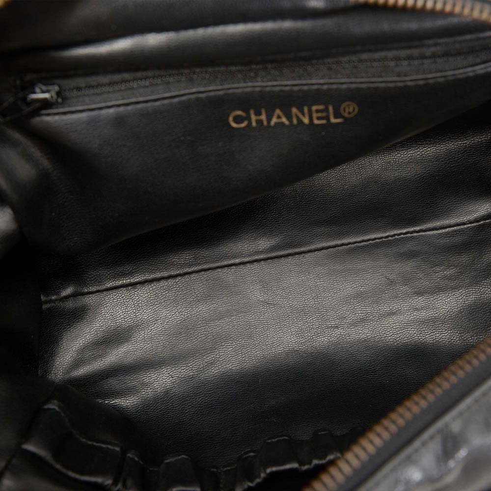 Chanel Black Quilted Lambskin Leather Cosmetic Pouch  - buy with discount