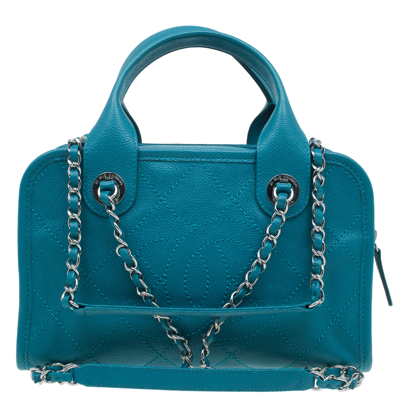 ccb799fd5a59 ... Chanel Blue Quilted Caviar Stitch Deauville Bowling Bag. nextprev.  prevnext