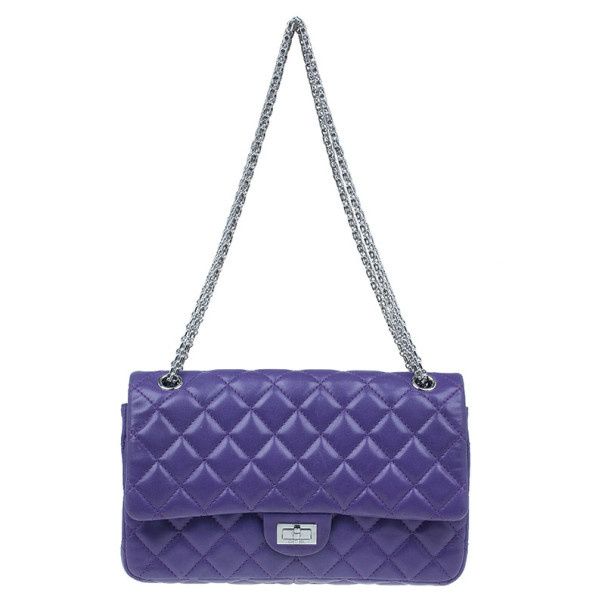 Chanel Purple Quilted Lambskin Reissue 2.55 Flap Bag