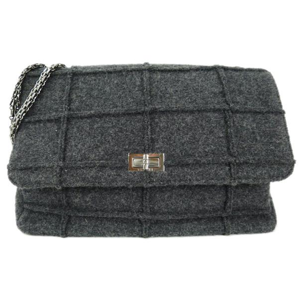 d5c04dacddea Chanel Grey Wool Chocolate Bar Reissue 2.55 Shoulder Bag. nextprev. prevnext.  Share  verified authenticity  secure