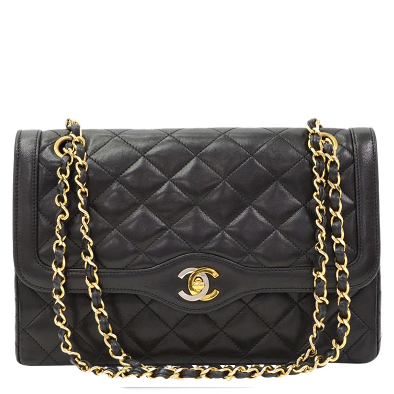 a0cf45b6527833 Buy Chanel Black Quilted Lambskin Paris Limited Edition Double Flap Bag  85690 at best price | TLC