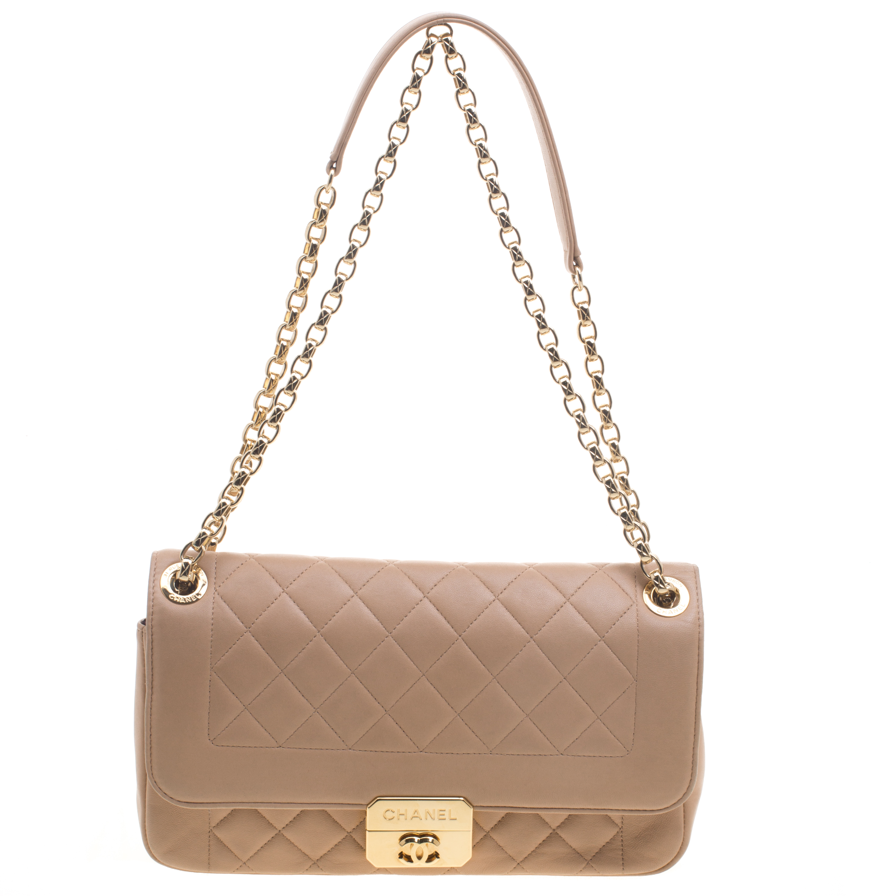 ee14ead1b51c Chanel Beige Quilted Leather Small Chic With Me Flap Bag 94059