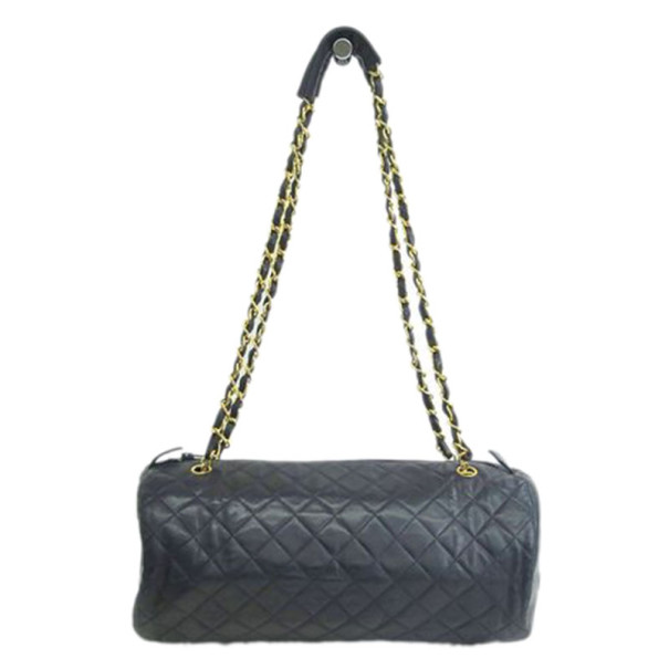2c3b17de06a1 Buy Chanel Black Quilted Barrel Bag 9418 at best price