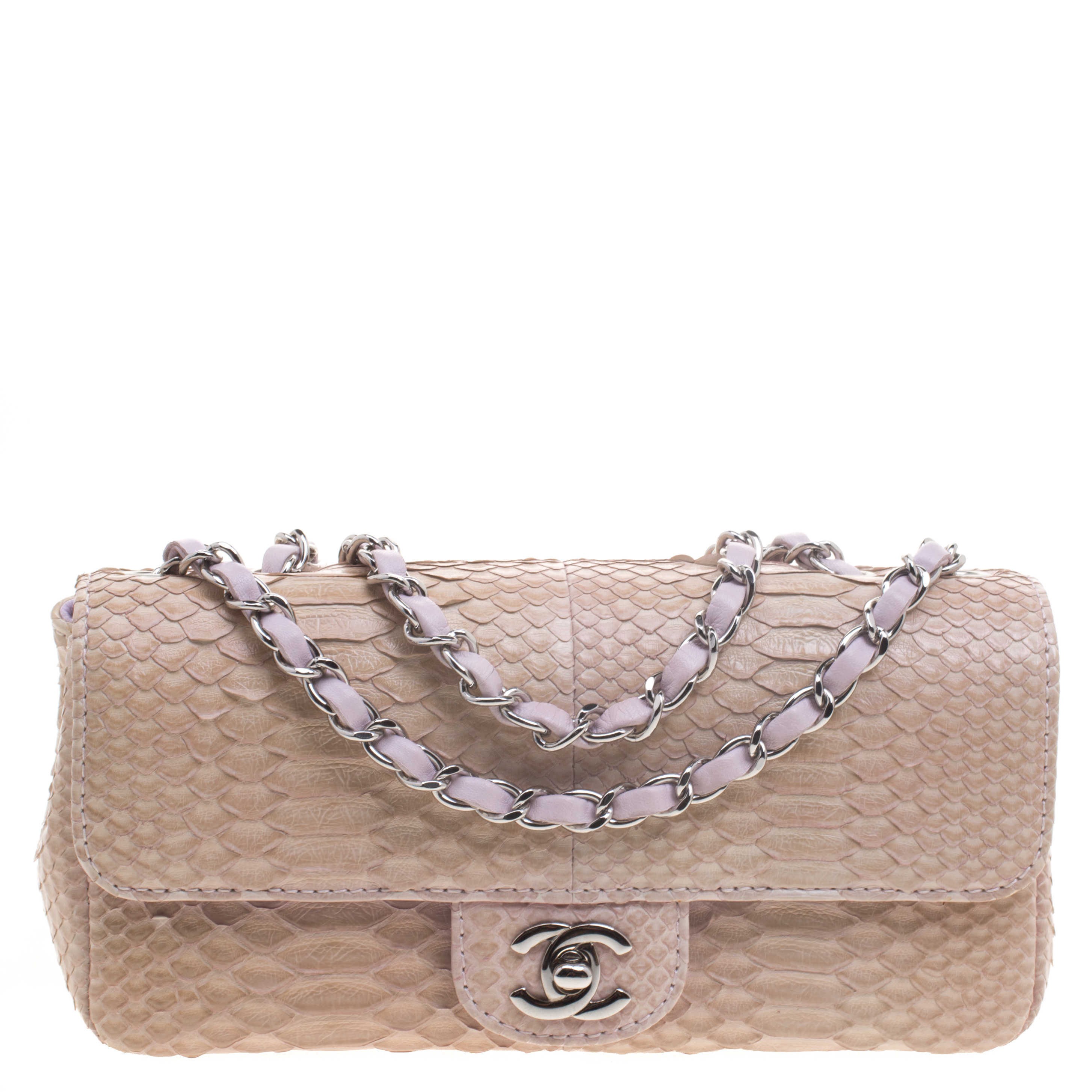 3bcd16db9b4d53 Buy Chanel Lilac Python Small Classic Single Flap Bag 94645 at best ...