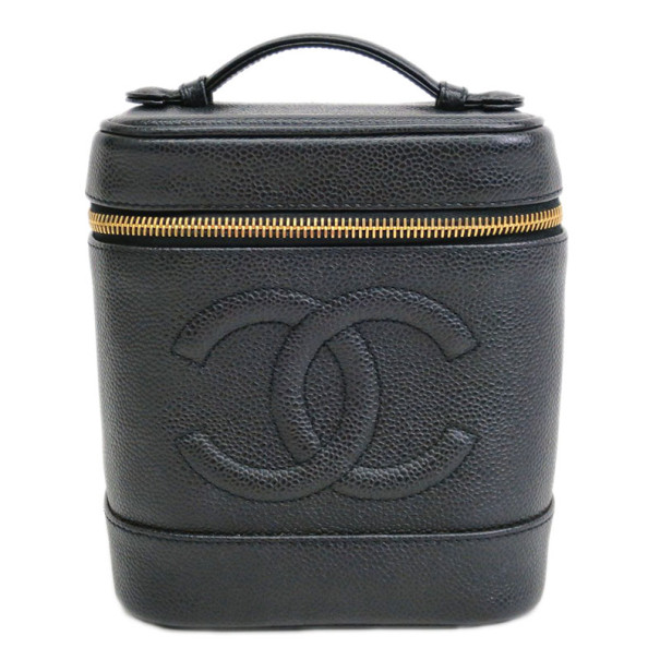 95a74ed24ff1 Buy Chanel Black Caviar Leather Vanity Case 12787 at best price | TLC