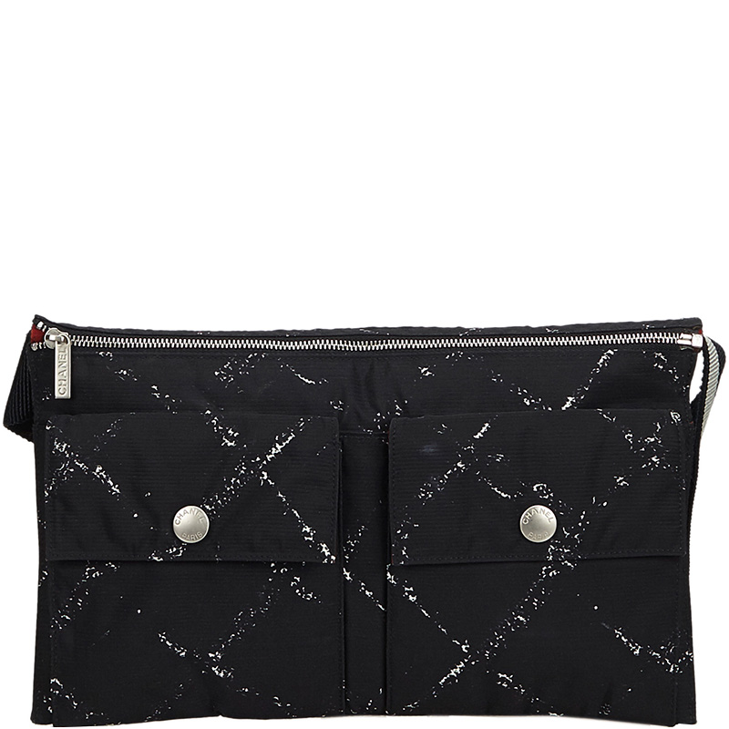 a76553d2a4c0 Buy Chanel Black Nylon Travel Line Belt Bag 177762 at best price | TLC