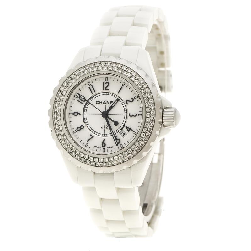 3169134a5 إشتري ساعة يد نسائية شانيل J12 ستانلس ستيل سيراميك بيضاء 33 مم ...