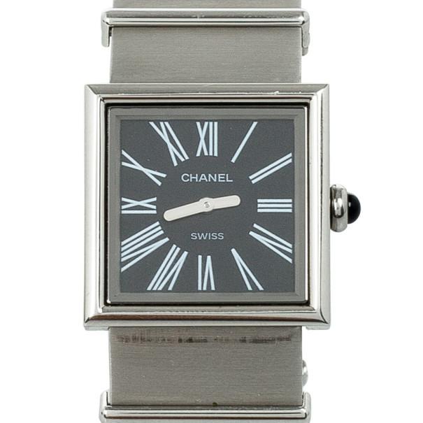 Chanel Mademoiselle Stainless Steel Womens Wristwatch 22 MM