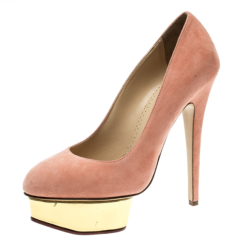 Charlotte Olympia Salmon Pink Suede