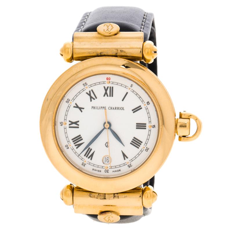 Philippe Charriol White Christopher Columbus Women's Watch 35MM