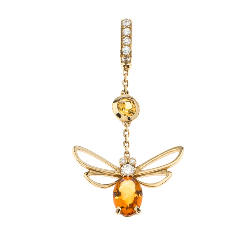 Chaumet Bee Catch Me if You Love Me Citrine Yellow Gold Charm