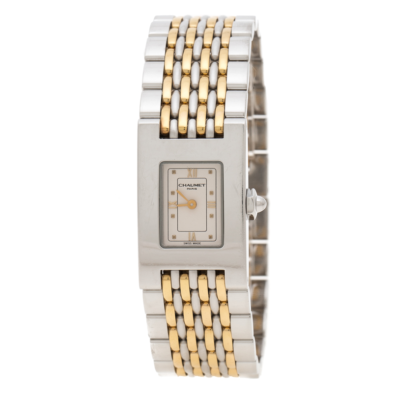 Chaumet Cream Stainless Steel Khesis 121 Women's Wristwatch 19 mm