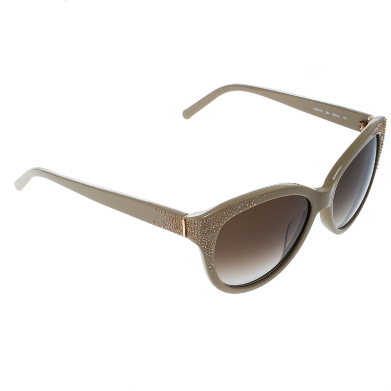 51436b2336c7 Buy Chloe Beige Brown Gradient CE627S Cat Eye Sunglasses 148303 at ...