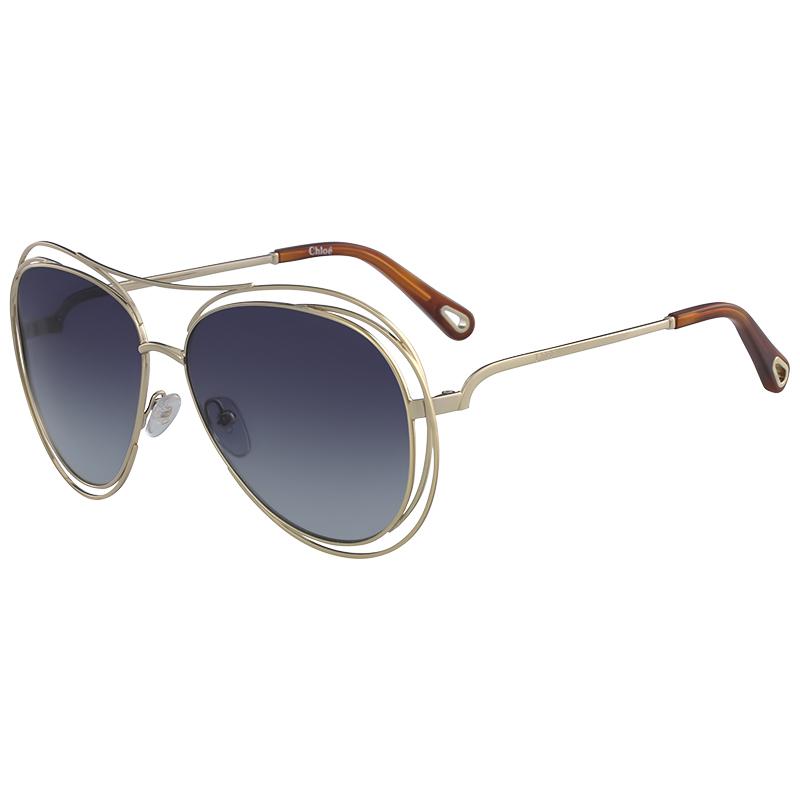 e1274568 Chloe Gold/Havana/Flash Blue CE134S Aviator Sunglasses