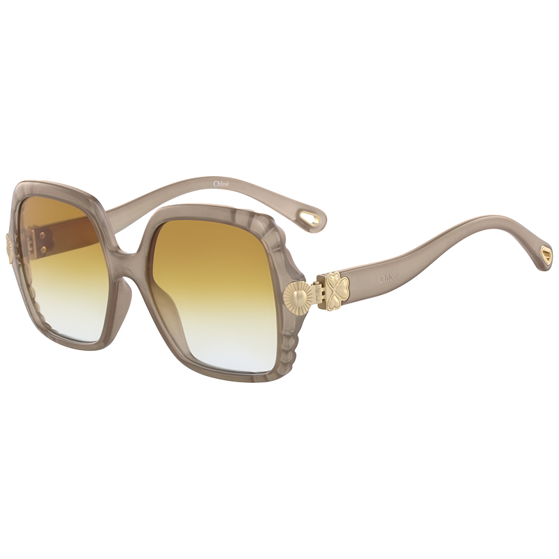 6087af8c0e24 Buy Chloe Light Brown CE746S Square Sunglasses 171149 at best price ...