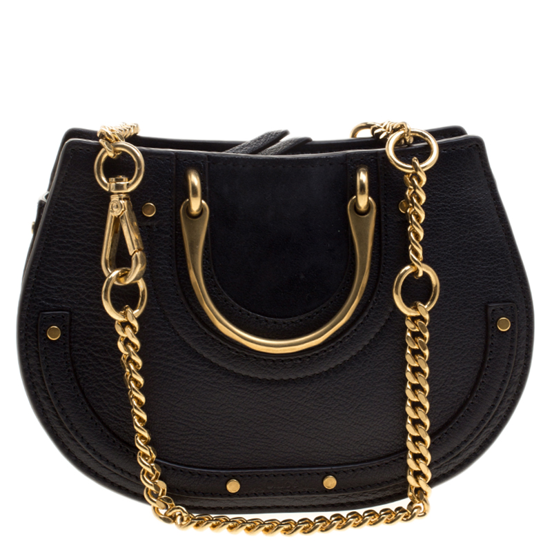 45e4bd9f5e Chloe Navy Blue Leather Pixie Shoulder Bag