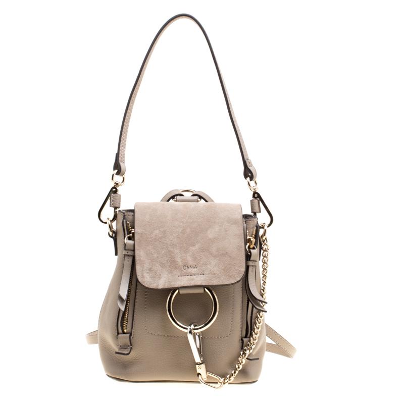 0e01815544 Chloe Beige Leather Mini Faye Backpack