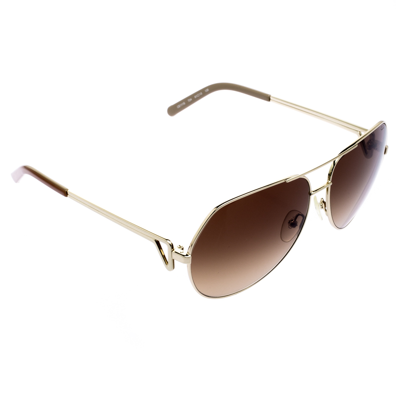 646f0a0ae672 Buy Chloé Brown CE111S Aviator Sunglasses 111886 at best price