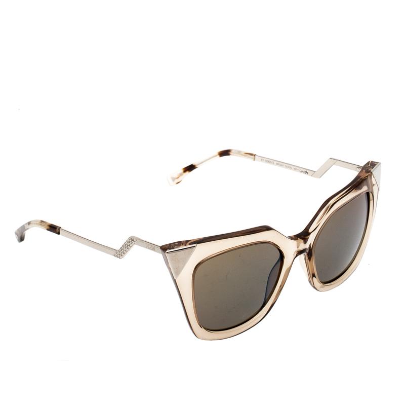 fdf55f1d1b6c ... Fendi Brown Blue Mirrored FF0060/S Iridia Cat Eye Sunglasses. nextprev.  prevnext