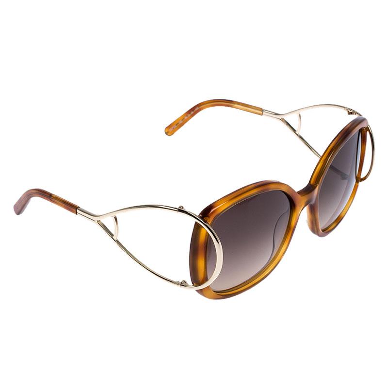 Chloé Blonde Havana / Grey Gradient CE702/S Butterfly Sunglasses
