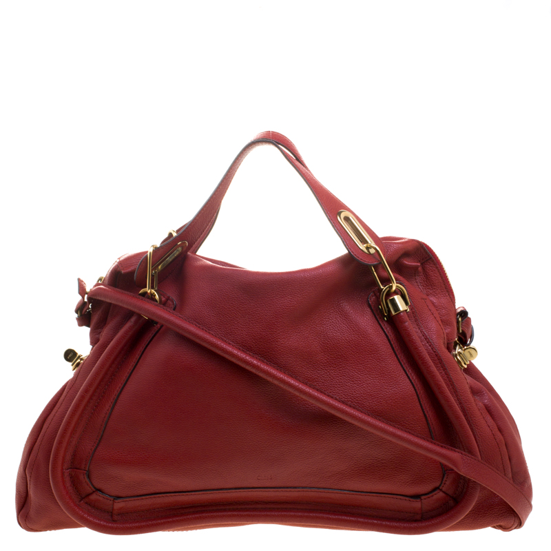 414ada30c Buy Chloe Red Leather Large Paraty Shoulder Bag 112037 at best price ...