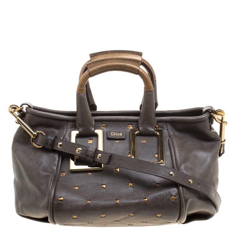 c251e904e9 Buy Chloe Dark Grey Leather Mini Ethel Satchel 115434 at best price ...